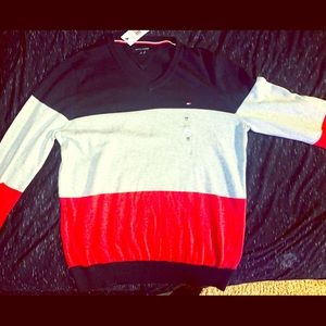Blue,Grey&Red Longsleeve Tommy Hilfiger New SizeM